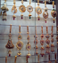 Brass hanging jewellery