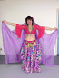 25-yard printed gypsy skirt and veil