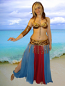 belly dance multi color circle skirt