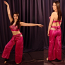 Belly dance sari wrap costume
