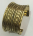 Tribal kuchi brass cuff 21