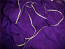 3-yard silk veil with golden trim