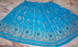 5 yard circle skirt  turqouise