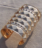 Tribal kuchi   brass cuff 20