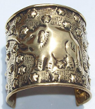 Tribal brass cuff 1