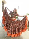 Banjara skirt 5 Orange