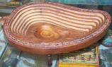 Wooden Carved Fruit Tray