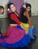15-yard silk gypsy skirt