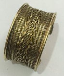 Tribal kuchi brass cuff 19