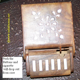 Wooden Carved Cigarette case