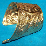 Tribal brass cuff 9