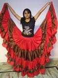 belly dance 25 yard faux silk gypys skirt