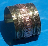 Tribal brass cuff 6