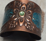 Tribal copper cuff 13