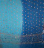 3-yard chiffon golden block print veil