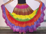 Rainbow gypsy skirt