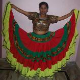 Belly dance 25-yard gypsy costume