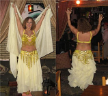 belly dance multi layer skirt