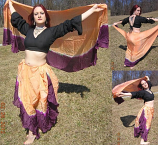 belly dance silk costume