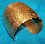 Tribal brass cuff 10
