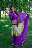 Double layer chiffon costume