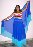 belly dance circle skirt and veil