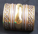 Tribal brass cuff 7
