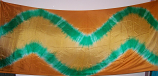 3-yard silk veil with wave design