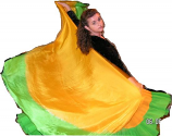 Double color half circle 6mm Silk veil