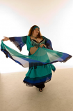 chiffon multi layer costume