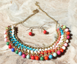Tribal kuchi Beaded necklace 8