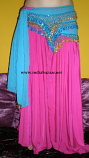 belly dance 6 yard full silky skirt