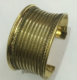 Tribal kuchi brass cuff 22