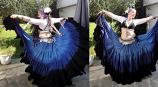 belly dance 25 yard deep dye gypsy skirt