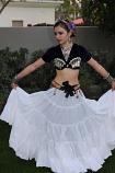 15-yard chiffon gypsy skirt