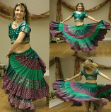 belly dance 25 yard sari gypys skirt