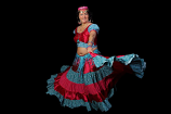 25-yard tania gypsy costume