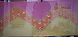 3-yard chiffon multi color block printed veil
