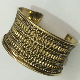 Tribal kuchi brass cuff 24