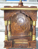 "18"" Embossed wooden Mandir"