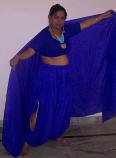 Silk harem pants with slits