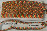 "0.25"" tribal trim x 25 yard =Trim 31"