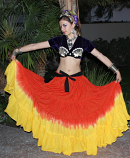 belly dance 15 yard deep dye gypsy skirt
