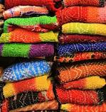 Cotton Bhandani Sari double color